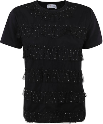 RED Valentino Ruffle Applique T-shirt