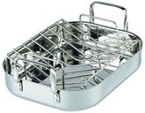 Cooks Standard 14 in. x 12 in. Stainless Steel Roaster with Rack