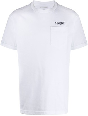 Pleasures embroidered logo T-shirt