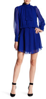 Adrianna Papell Long Sleeve Solid Disco Dress