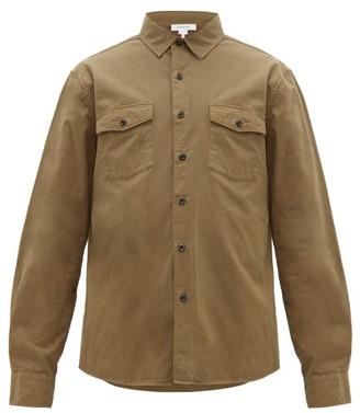 Frame Double Flap Pocket Cotton Long-sleeve Shirt - Mens - Khaki