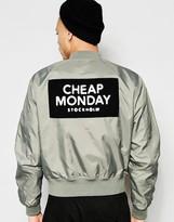 Cheap Monday Bomber Jacket Rank Nylon Patch Back Logo In Green