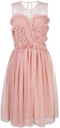 P.A.R.O.S.H. Frilled Panel Midi Dress