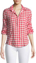 Frank And Eileen Barry Button-Front Check Linen Shirt