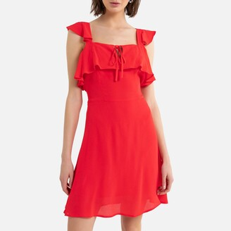 La Redoute Collections Ruffled Sleeveless Mini Dress