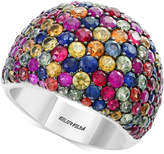 Effy Splash by Multicolor Sapphire Statement Ring (6-1/6 ct. t.w.) in Sterling Silver