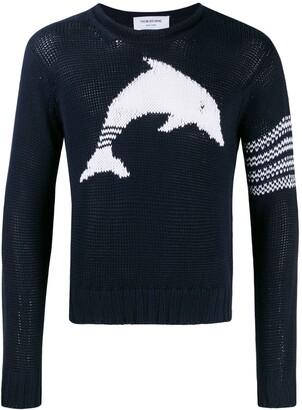 Thom Browne Dolphin Intarsia crew neck Sweater