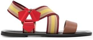 Pollini Serenissima flat elastic sandals