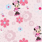 Disney Minnie Spring Walk Wallpaper Sample - Multicoloured