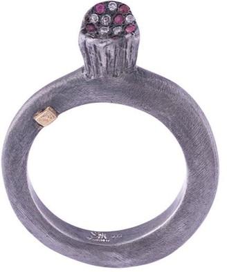 Rosa Maria Woina Diamonds and Rubies ring