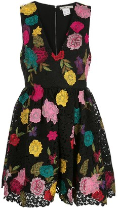 Alice + Olivia Becca embroidered floral dress