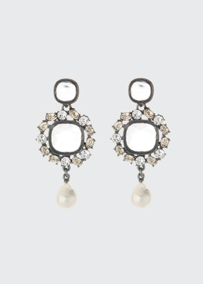 Oscar de la Renta Runway Jewel Dangle Earrings