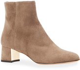 Marion Parke Tasha Side Zip Suede Booties