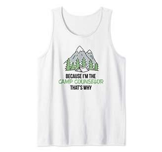 Summertime Camp Counselor Funny Attitude Tank Top