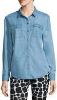 Liz Claiborne Long-Sleeve Denim Shirt