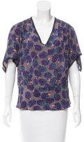 Zadig & Voltaire Floral Print Silk Top