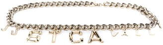 Just Cavalli Logo Charm Chain Belt