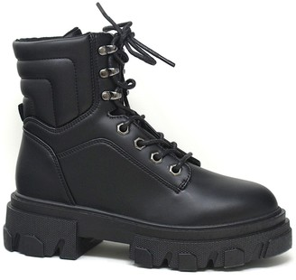 Yoki Santy Women's Combat Boots