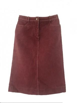 Celine Burgundy Cotton Skirt for Women Vintage