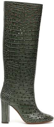 L'Autre Chose Crocodile Embossed Boots