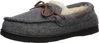 Dearfoams Women's Wool Moccasin with Tie Slipper