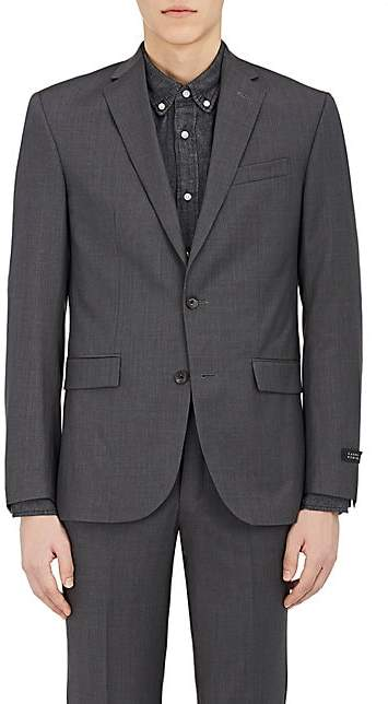 Barneys New York Men's Wool Two-Button Sportcoat - Charcoal