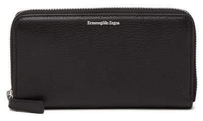 Ermenegildo Zegna Zip Around Leather Wallet