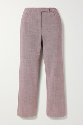 Theory Cropped Houndstooth Woven Flared Pants
