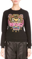 Kenzo Light Brushed Cotton Tiger Sweatshirt, Black