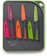 ART AND COOK Yellow Cutting Board & Pairing Knife 7-Piece Set