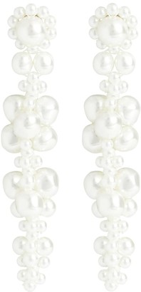 Simone Rocha Embellished faux-pearl earrings