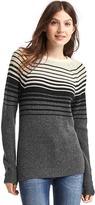 Gap Merino wool blend gradient stripe sweater