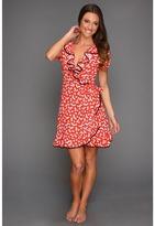 Juicy Couture Heart Print Crepe Dress (Siren) - Apparel