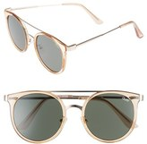 Quay Women's Kandy Gram 51Mm Round Sunglasses - Gold/ Green Lens