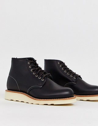 Red Wing Shoes 6-inch Round Toe Leather Boot-Black