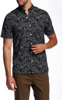 Kennington Scribble Print Woven Short Sleeve Shirt