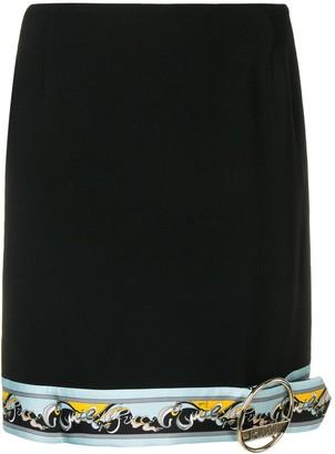 Emilio Pucci Contrast Hemline Mini Skirt