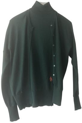 Balenciaga Green Wool Knitwear