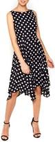 Wallis Women's Dot Print Handkerchief Hem Dress