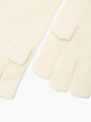 KHAITE Kai Cashmere Fingerless Gloves - Cream
