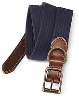 Izod Leather-Tab Woven Belt