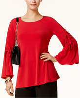 Alfani Ruched Bell-Sleeve Top, Created for Macy's