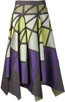 Issey Miyake geometric pattern full skirt