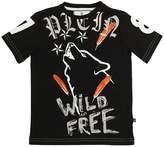 Bear Printed Cotton Jersey T-Shirt