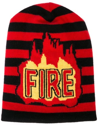 MONCLER GRENOBLE Fire knitted beanie