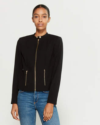 Calvin Klein Luxe Stretch Zip Jacket