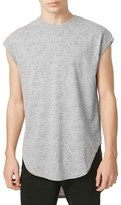 Topman Men's Longline Cap Sleeve Burnout T-Shirt
