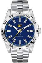 Caterpillar CAT Level 3HD Men's Quartz Watch with Blue Dial Analogue Display and Silver Stainless Steel Bracelet IN.141.11.626