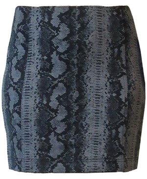 Tinseltown Juniors' Snakeskin-Print Mini Skirt