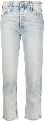 Mother Tomcat high-rise straight jeans